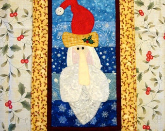 Santa Claus Christmas Quilted Table Runner Decoration