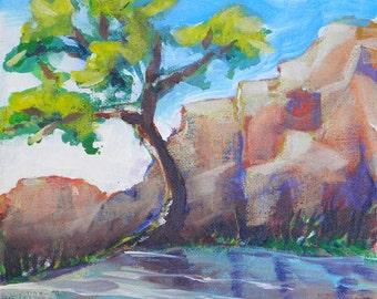 Canyon River 1 original landscape oil painting