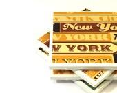 Tile Coasters - New York, New York - Set of 4 Tile Coasters