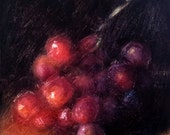 Red Grapes 6 x 6 Original Daily Oil Painting