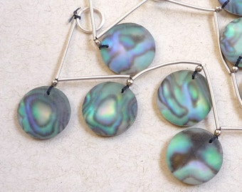 AAA Rose Cut Briolette Beads Abalone Quartz Doublet Gemstone, Matched Pair, 16mm Round, Satin Matte