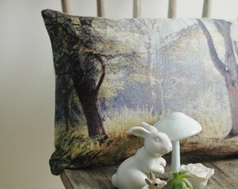 Cushion, handmade in linen, Woodlands English Romantic collection
