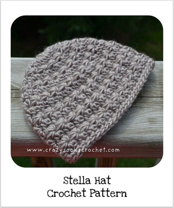 Crochet Star Stitch Hat Free Pattern : Stella Hat CROCHET PATTERN star stitch by DanyelPinkDesigns