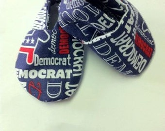 Baby Democrat  Baby Shoes size 0 to 6 months