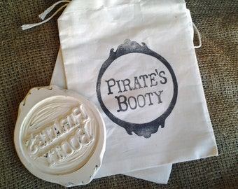 Rubber Stamp-Pirates Booty Hand Carved