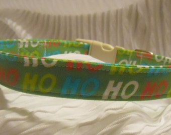 Custom Dog Collar with Ho Ho in Custom Sizes XS to XL