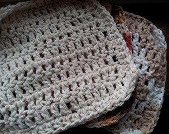 Hand Crocheted 100% Cotton Wash Cloths