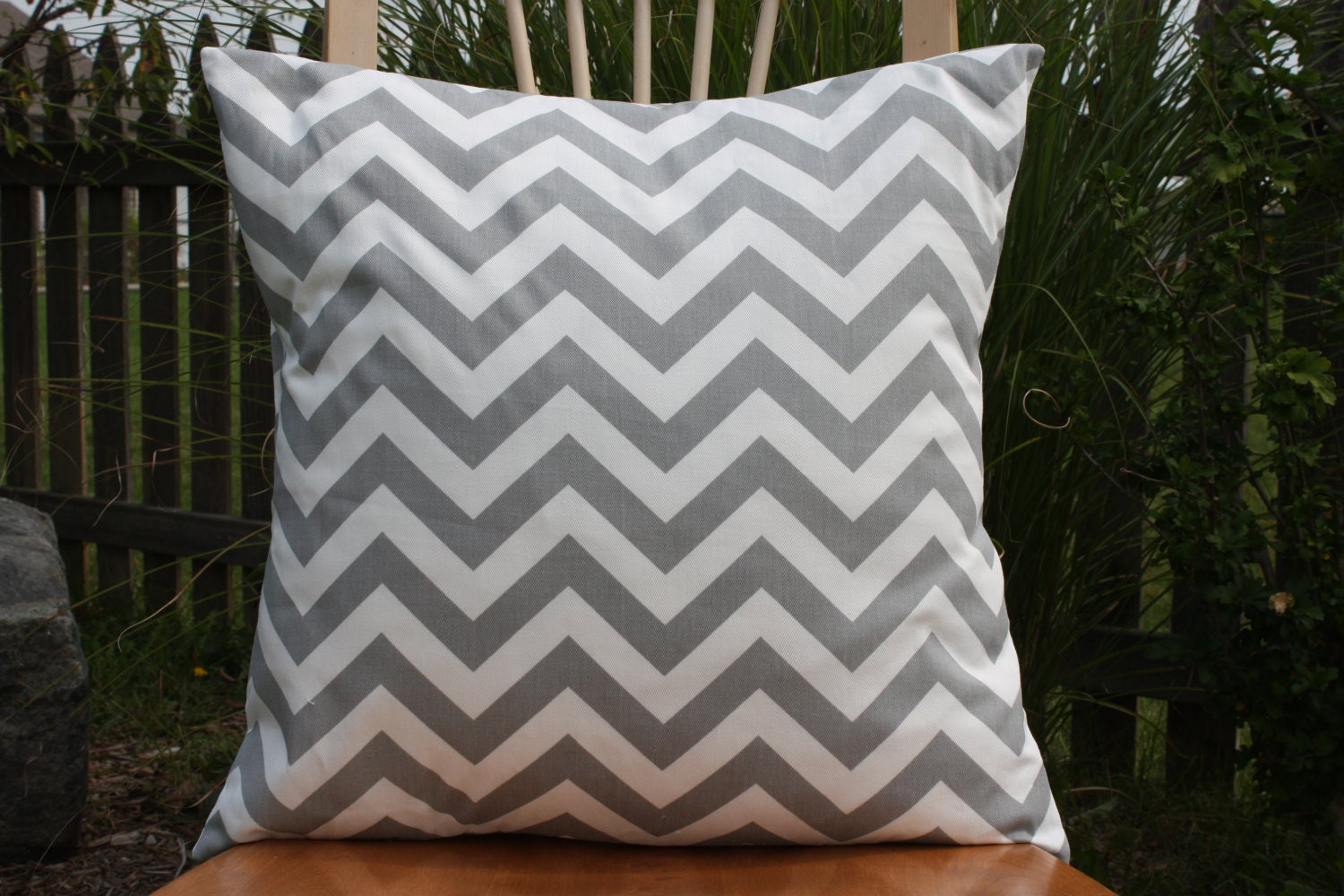 grey and white chevron pillow cover. Black Bedroom Furniture Sets. Home Design Ideas