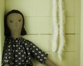 Vintage Upcycled Fabrics, Vegan Friendly, Calliope Cloth Rag Doll, Francesca,19 inches, OOAK,  Handmade in Australia