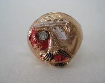 Pirate Ring Gum Ball Copper Vintage Adjustable