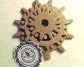 Tim Holtz Chipboard Gears, Gatget Gears, No.136 Steampunk Gears, Wheels, Clogs, Chipboard Die Cuts by Annie42 - AR Creations on Etsy