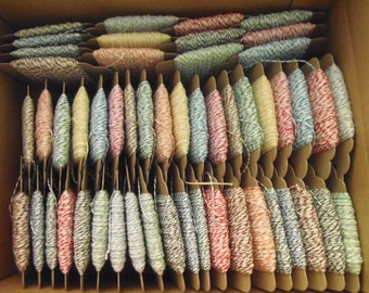 Bakers Twine, BULK Sale Baker's Twine 900 feet on Hanging Tags, ONLY .04 cents a Yard, Sampler Twine Lot, Value Pack, Cotton ALL 12 Colors