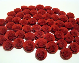 Spiral Paper Roses - Set of 50 in Red only