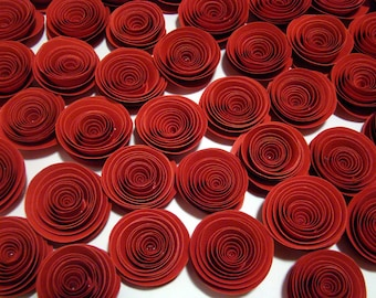 Spiral Paper Roses - Set of 100 in Red only