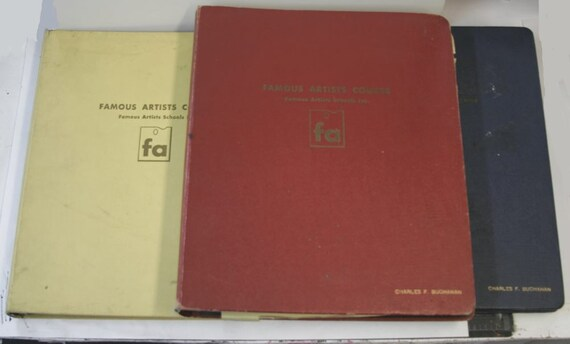 Rare 1954 Famous Artist Course 3 Huge Volumes Rockwell By Ryder