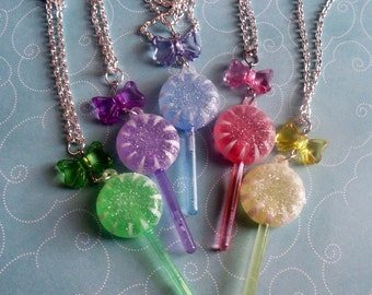 Lollipops and Bows Necklace
