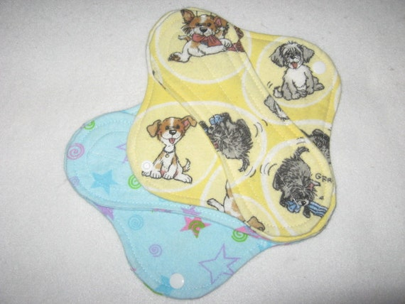 Cloth panty liners set of two 8 inch