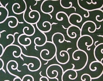Japanese cotton print - 1/2 yard of green Vines