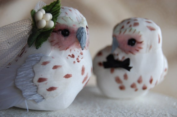 Snow Owl Wedding Cake Topper