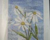 Musical Daisies Watercolor Card
