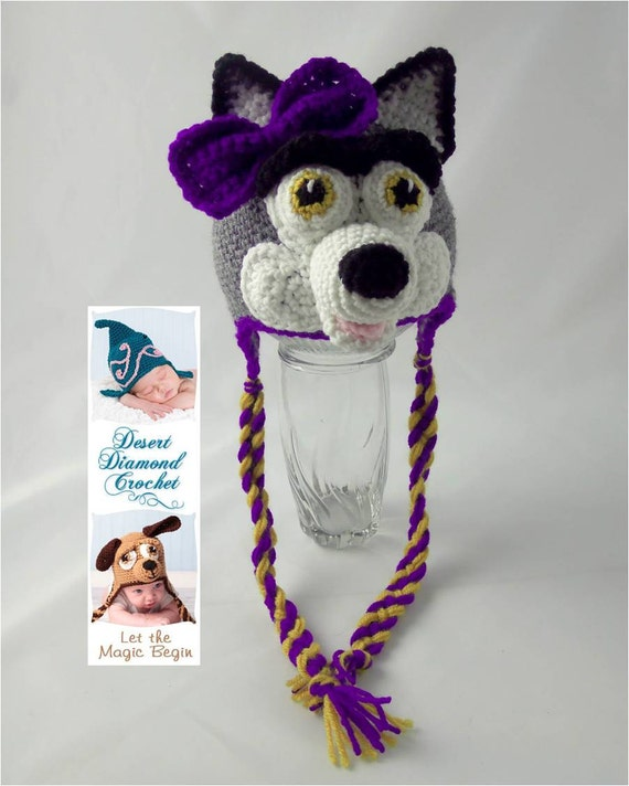 University of Washington Husky Earflap Beanie - Made to order - any colors - any sizes