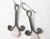 Rosebud Earrings Wire Woven EarringsTutorial