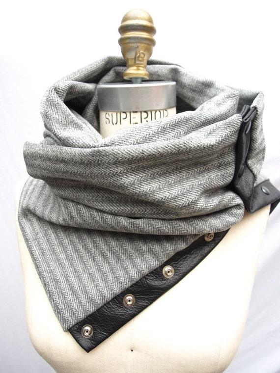 Fall 2012 Herringbone Chunky wool circular infinity scarf (last one)