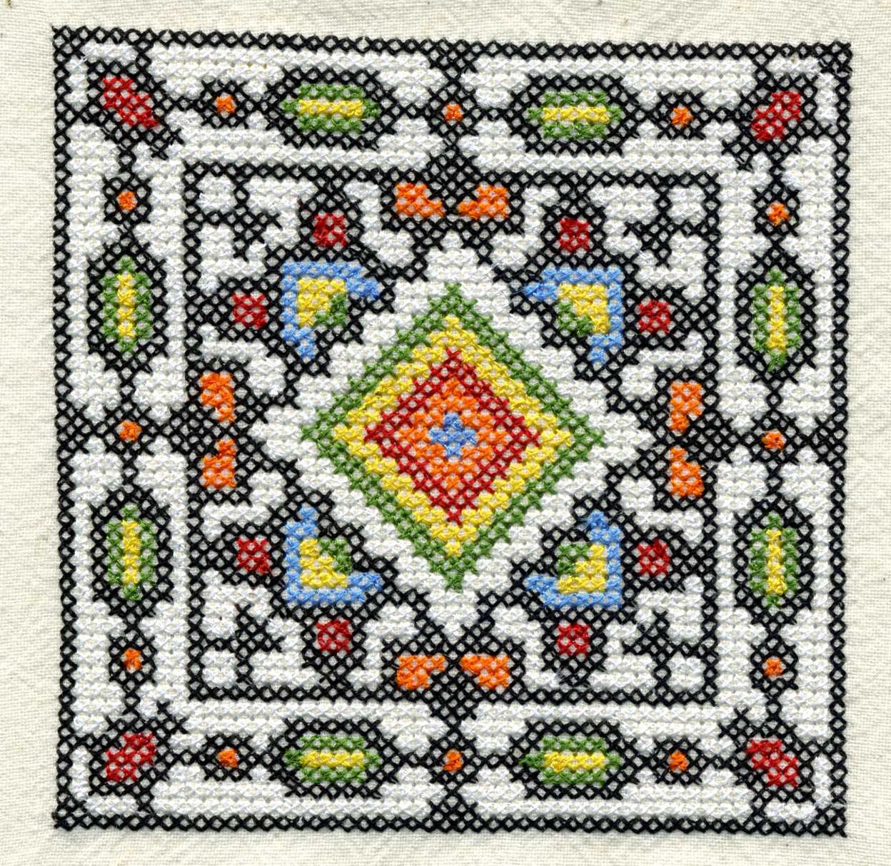 Ukrainian cross stitch squares machine embroidery design set