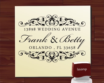 Custom SELF INKING stamp -  Return Address Rubber Stamp - style  HS1285B- Personalized  wedding or christmas gift