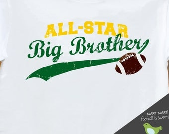 big brother t shirt - all-star football big brother t-shirt FRONT/BACK