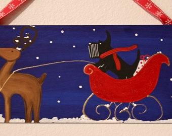 Scottish Terrier Christmas Home Wall  Art  Decor