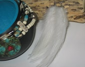 Basic White Feathers. Western Wear. Native. Earrings.