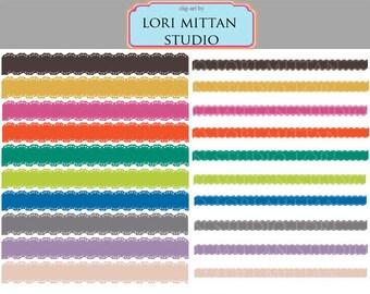 Digital Lace Borders for Scrapbooking, Invitations, Announcements, Flyers, Pantone Fall colors border clip art, Digital Files