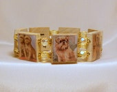 BRUSSELS GRIFFON Bracelet / SCRABBLE Jewelry / Dog Lover / Unusual Gifts / Upcycled