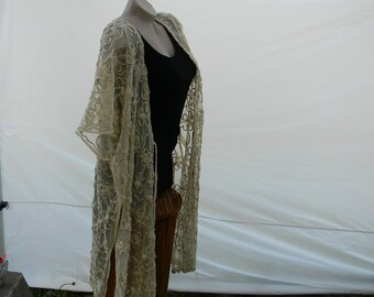 Kimono Inspired Top, Jacket, Cover-up, One Size