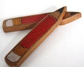 Illustrated Pencil Wood Brooch - Repurposed Timber Wood Eco