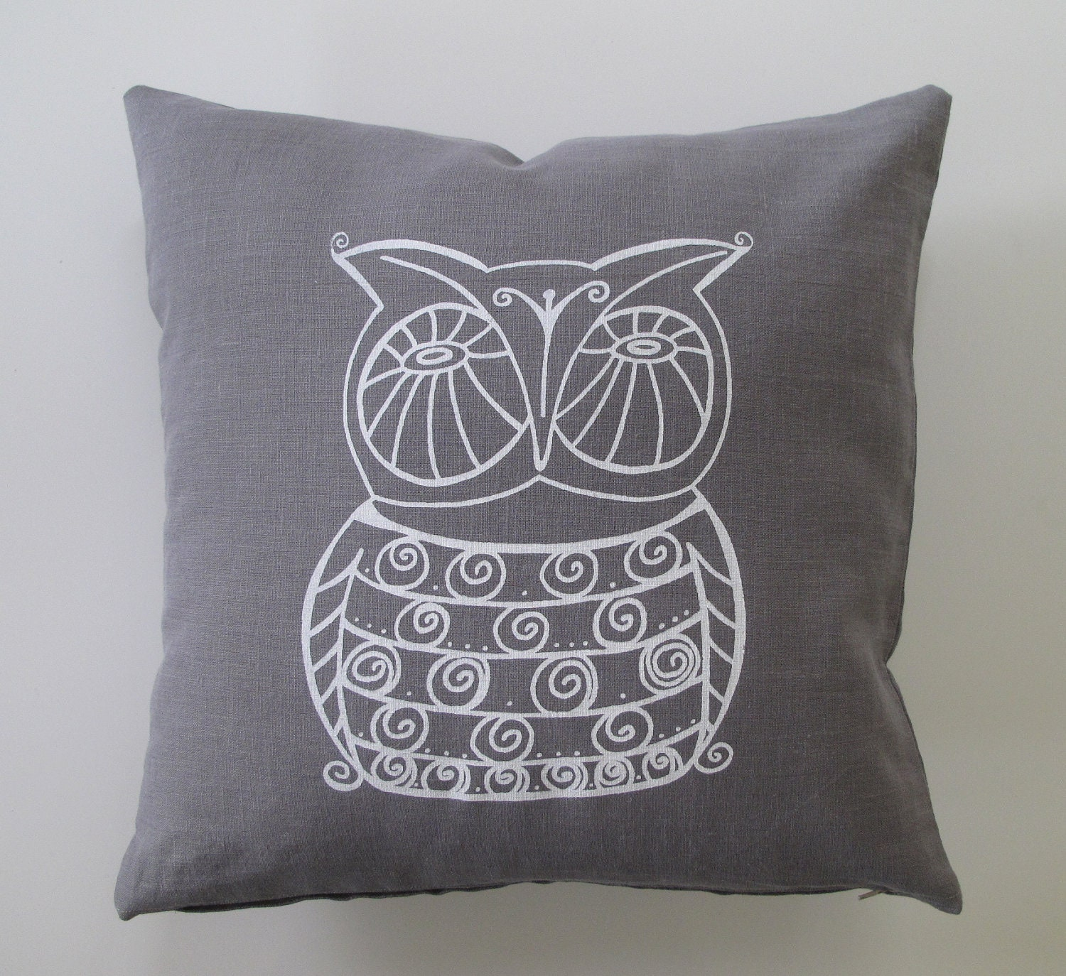 Owl Throw Pillow Covers : Owl Decorative Pillow Cover Cushion Cover 16 x 16 inches
