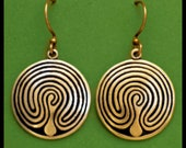 BALTIC LABYRINTH- Earrings- Bronze