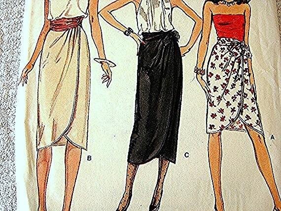 Vintage Vogue Wrap Skirt Pattern Misses size 12 UNCUT