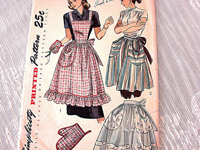 30 Free Vintage Apron Patterns SEWING Pinterest Vintage 63