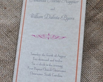 100 Vintage Tea-Length, Booklet Wedding Program