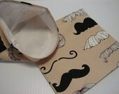 2pc Mustache  Reusable Sandwich and Snack Bag