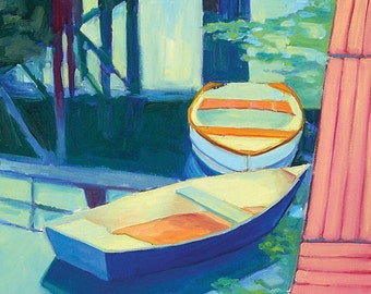Boothbay Harbor, Maine Dinghies - Giclee Print