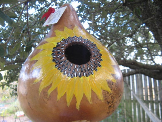 2012 Sunflower Birdhouse Gourd 2/3