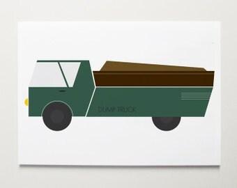 Dump Truck Wall Art by ModernPOP