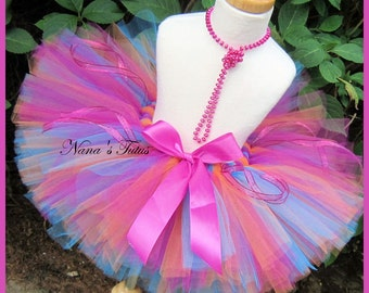 Tropicana,Party Tutu,Birthday, Photo Shoots, Dress Up, All Occassion  Sizes up to 6yrs