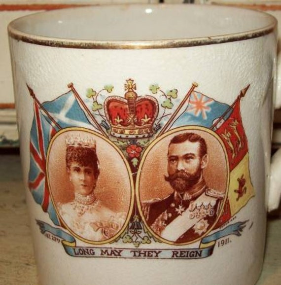 Long May They Reign King George V & Queen Mary Coronation Mug - 1911