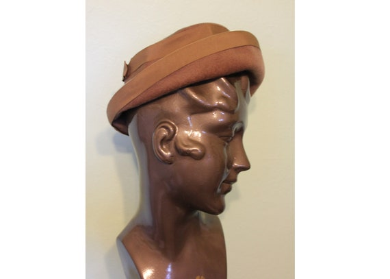 60s light brown tan wool Henry Pollak hat
