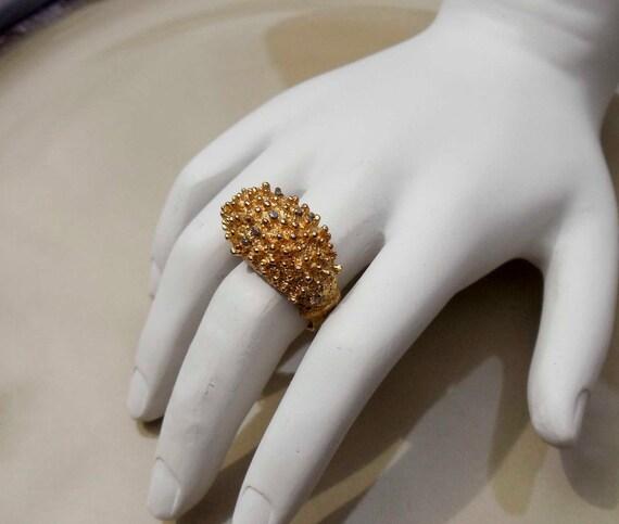 Vintage Gold Nugget Ring adjustable