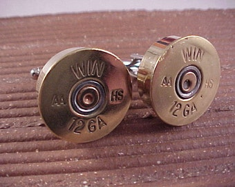 Shotgun Cufflinks / Winchester 12 Gauge Shotgun Cuff Links / Wedding Cufflinks / Real Shotgun Shells / Groomsmen Gifts / Bridal Cufflinks